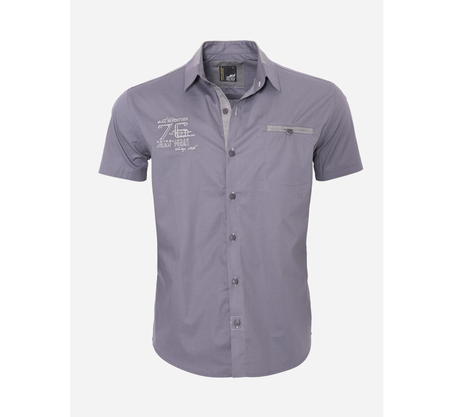 Overhemd Korte Mouw 12Y5250 Anthracite