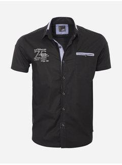 Arya Boy Overhemd Korte Mouw  12Y5250 Black