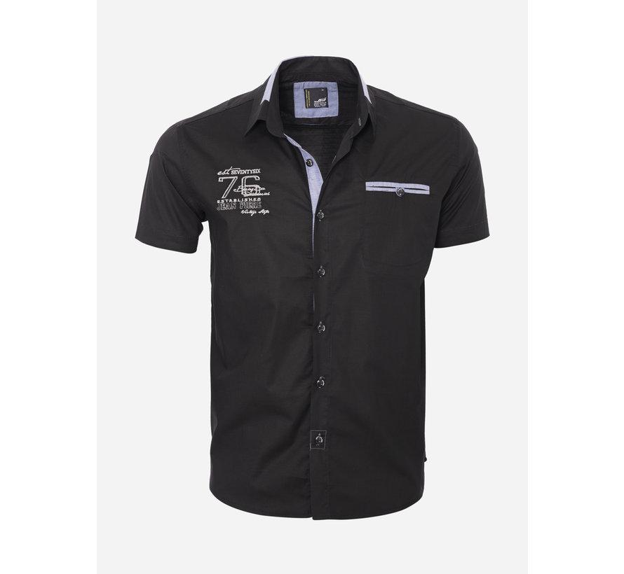 Overhemd Korte Mouw  12Y5250 Black