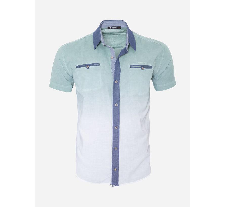 Overhemd Korte Mouw  13Y856 Green