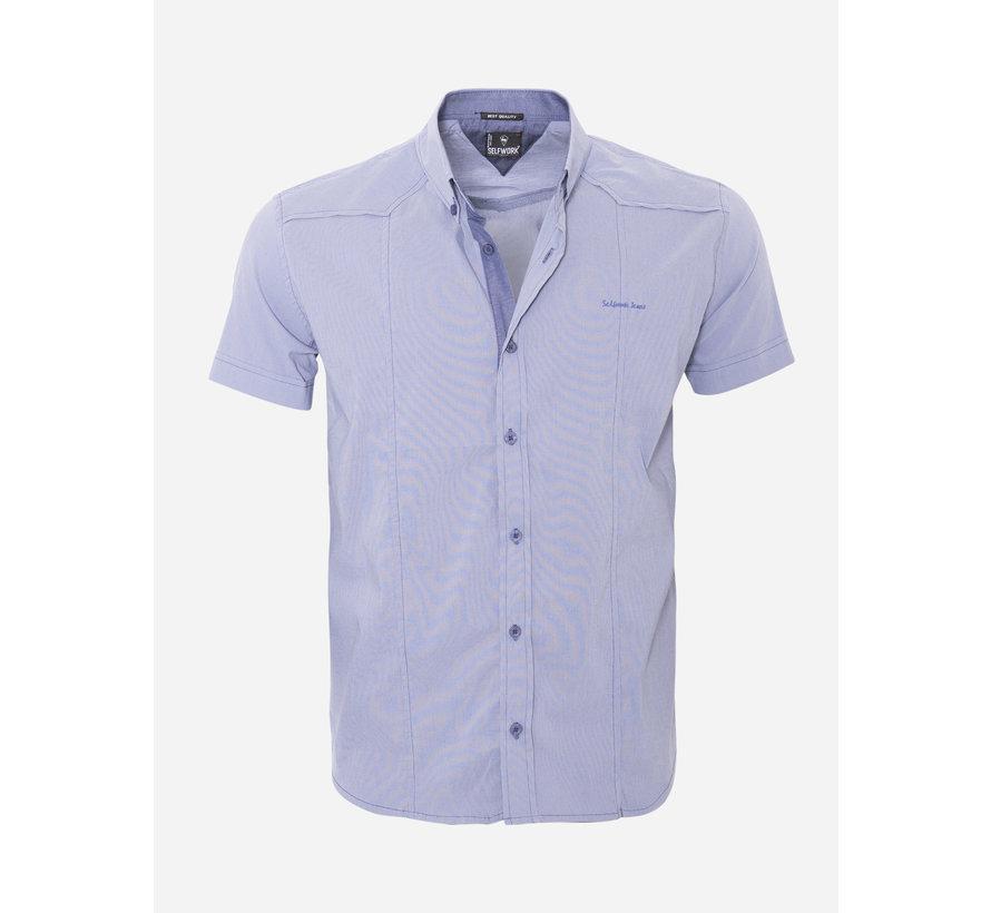 Overhemd Korte Mouw 13Y858 Blue
