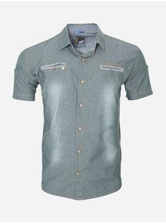Arya Boy Overhemd Korte Mouw 15Y7511 Dark Green