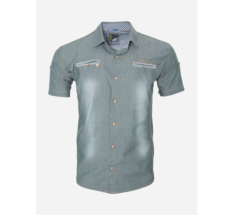 Overhemd Korte Mouw 15Y7511 Dark Green