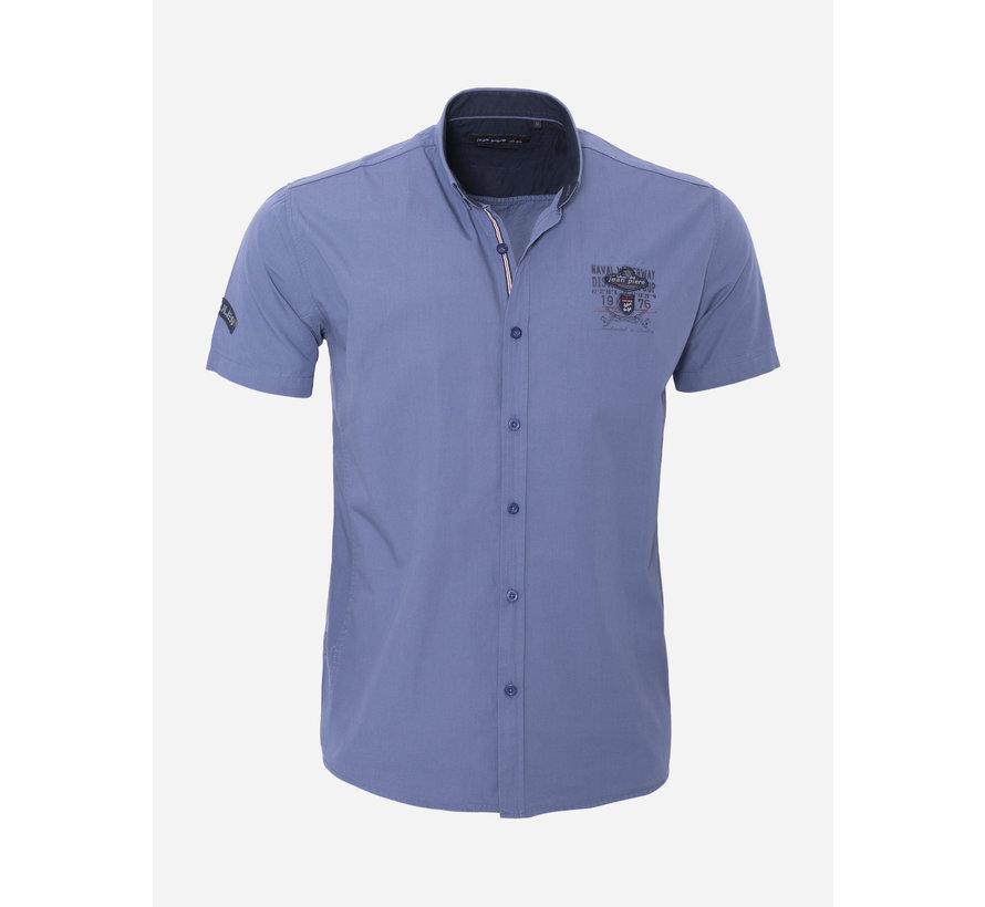 Overhemd Korte Mouw 17Y1461Indigo