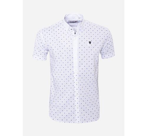 Arya Boy Overhemd Korte Mouw 17Y1465 Wit