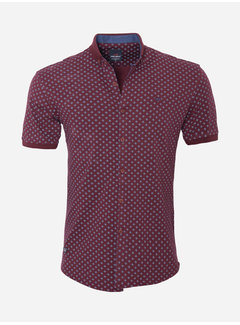 Arya Boy Overhemd Kort Mouw 18Y8542 Dark Red
