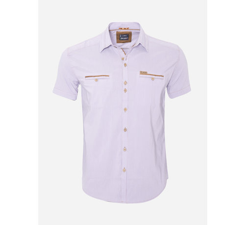 Arya Boy Overhemd Korte Mouw 14Y6417 Bruin