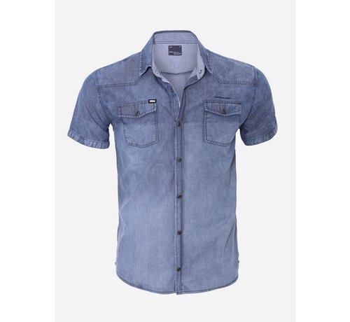 Arya Boy Overhemd Korte Mouw 13Y521 Blue