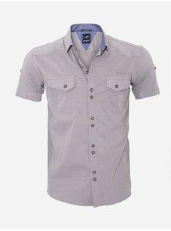 Arya Boy Overhemd Korte Mouw 13Y530 Brown