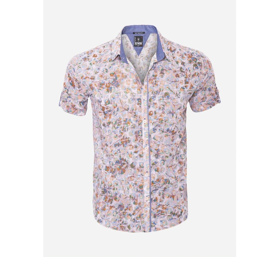 Overhemd Korte Mouw  13Y865 Grey