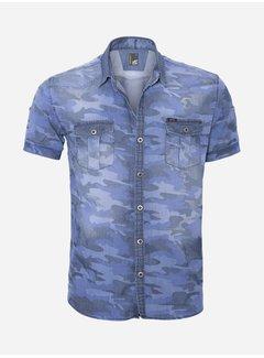 Arya Boy Overhemd Korte Mouw 14Y6450 Indigo