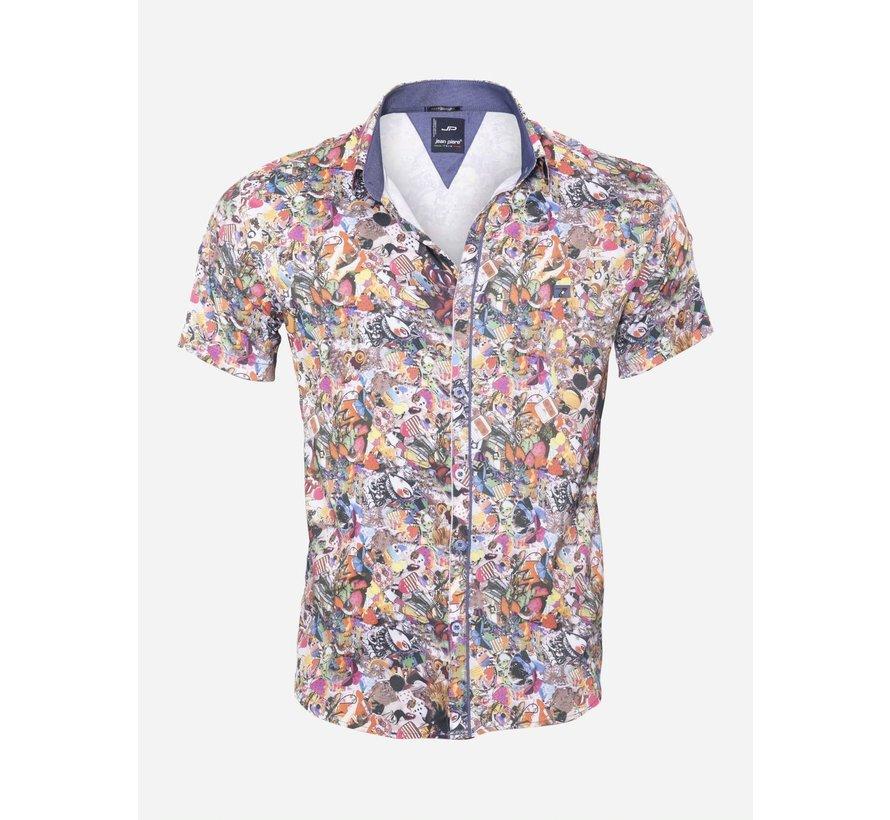 Overhemd Korte Mouw 14Y6484 Green