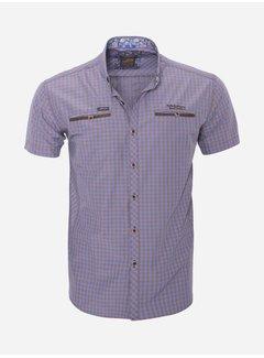 Arya Boy Overhemd Korte Mouw  15Y7523 Brown