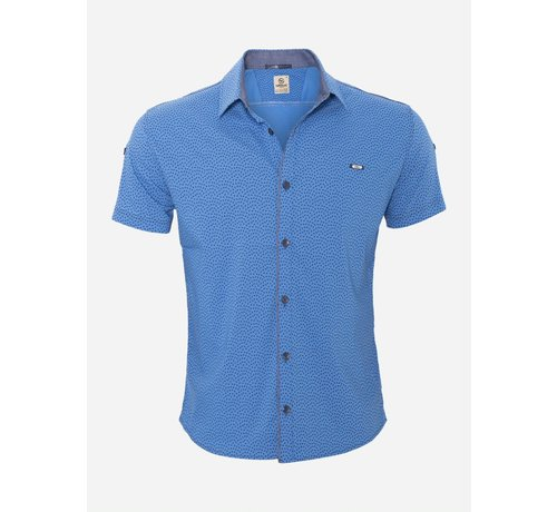 Arya Boy Overhemd Korte Mouw 15Y7861 Royal Blue