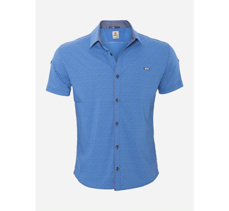 Overhemd Korte Mouw 15Y7861 Royal Blue