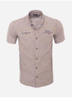 Arya Boy Overhemd Korte Mouw 16Y3901 Brown