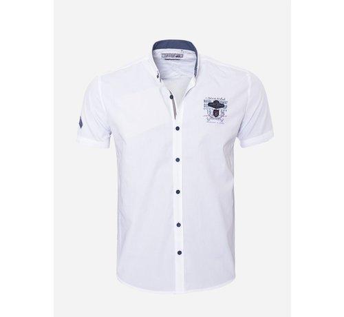 Arya Boy Overhemd Korte Mouw 17Y1461 White