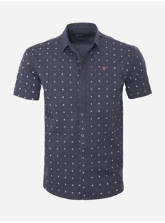 Arya Boy Shirt Short Sleeve 17Y1465 Bat Navy