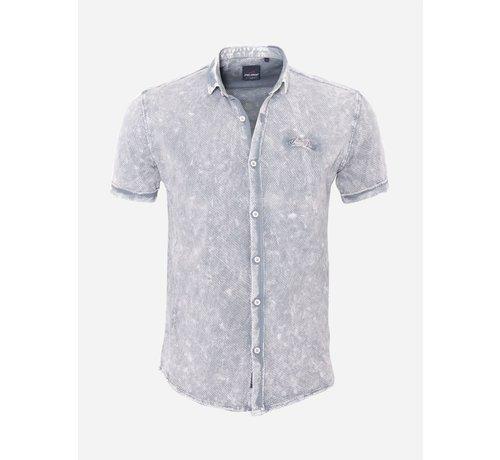 Arya Boy Overhemd Korte Mouw 18Y8539 Grey