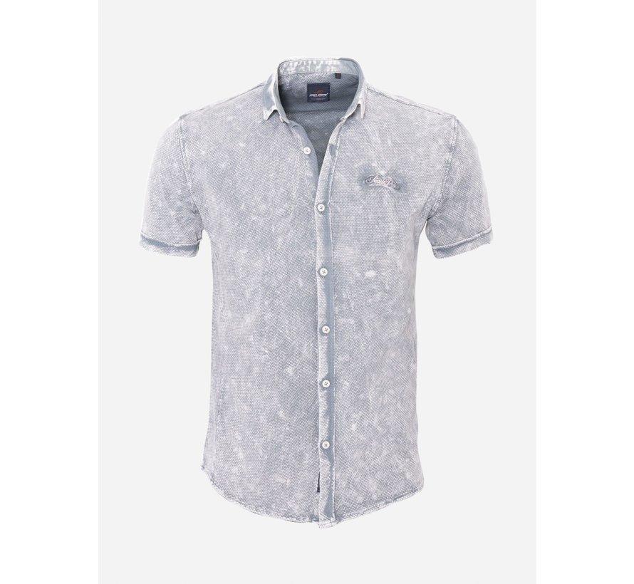 Overhemd Korte Mouw 18Y8539 Grey