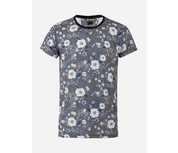 Arya Boy T-Shirt 89331 Orsieres  Anthracite White