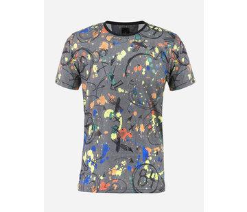 Arya Boy T-Shirt 89331 Orsieres  Anthracite Green