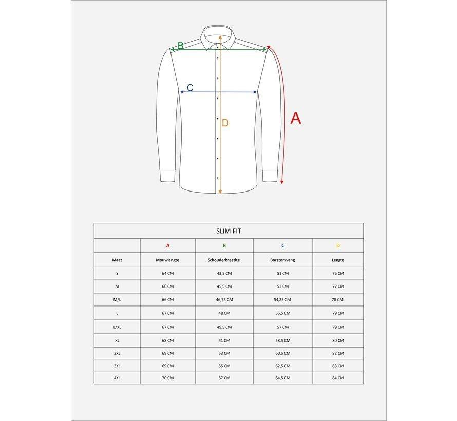 Overhemd Lange Mouw Beaufort Royal