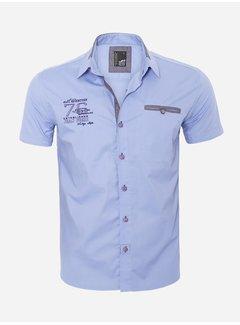 Arya Boy Overhemd Korte Mouw 12Y5250 Blue