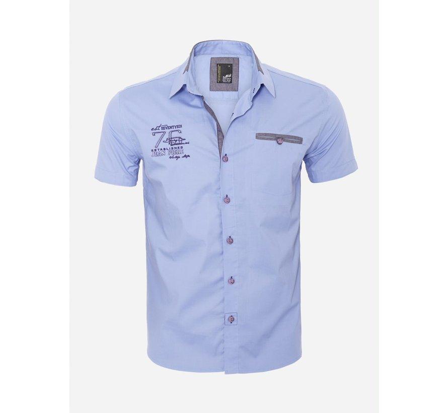 Overhemd Korte Mouw 12Y5250 Blue