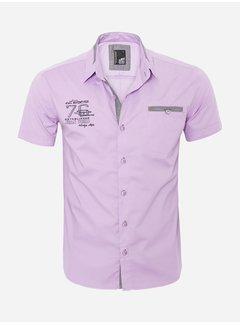 Arya Boy Overhemd Korte Mouw 12Y5250 Light Purple
