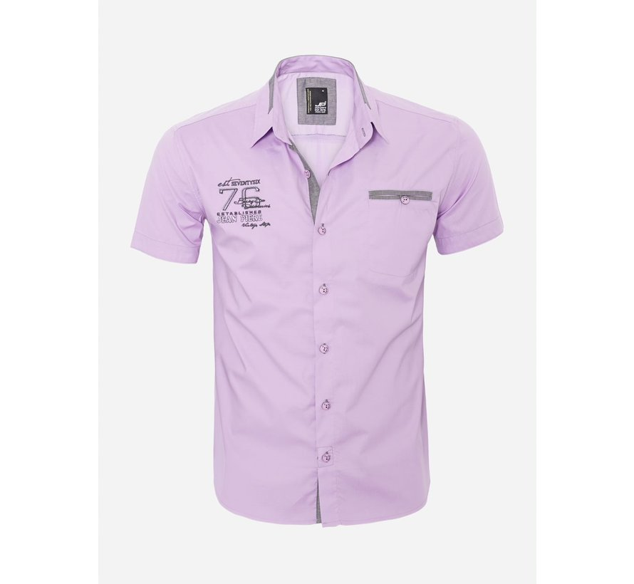 Overhemd Korte Mouw 12Y5250 Light Purple
