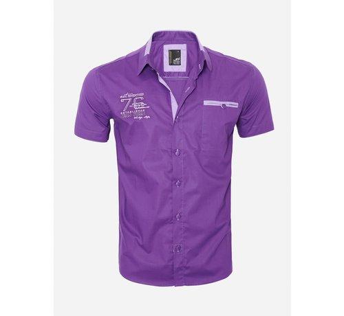 Arya Boy Overhemd Korte Mouw 12Y5250 Purple