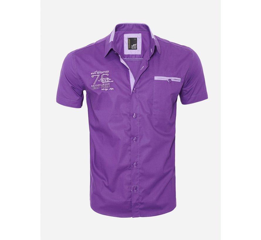 Overhemd Korte Mouw 12Y5250 Purple
