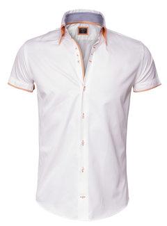 Wam Denim Overhemd Korte Mouw 75253 White