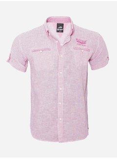 Arya Boy Overhemd Korte Mouw 12Y5259 Pink