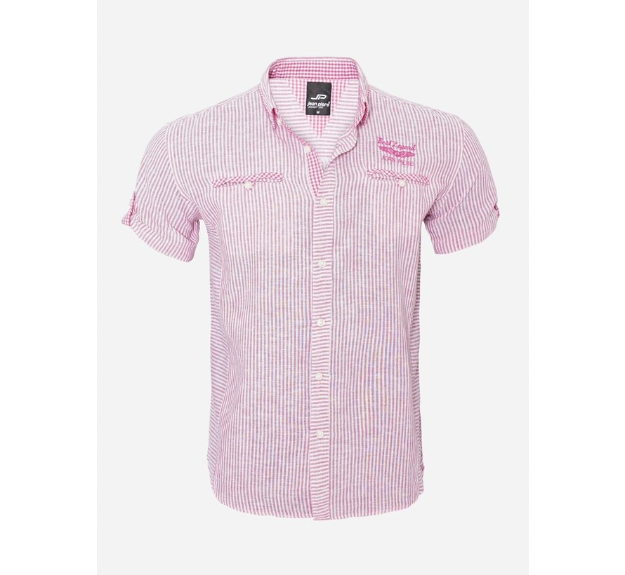Overhemd Korte Mouw 12Y5259 Pink