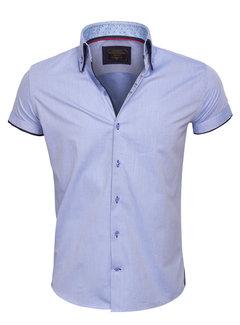 Wam Denim Overhemd Korte Mouw 75412 Blue