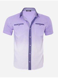 Arya Boy Overhemd Korte Mouw 13Y856 Light Purple