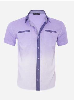 Arya Boy Shirt Short Sleeve 13Y856 Light Purple