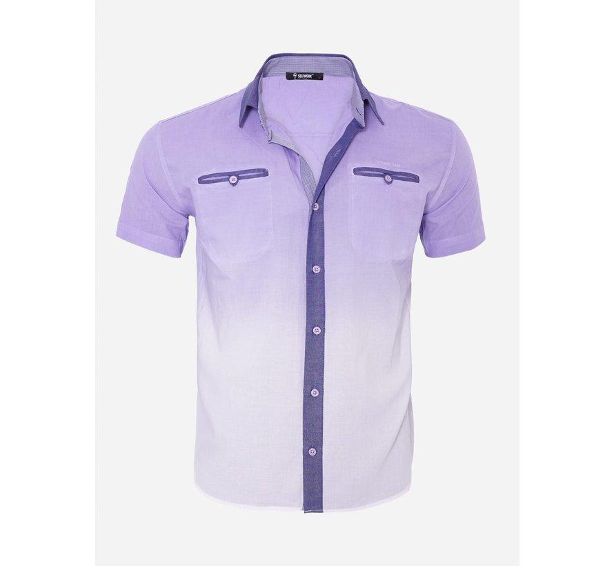 Overhemd Korte Mouw 13Y856 Light Purple