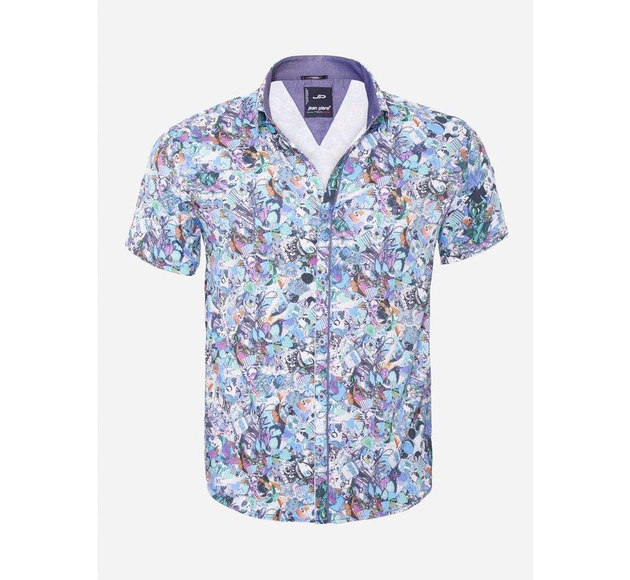 Overhemd Korte Mouw  14Y6484 Turqouise