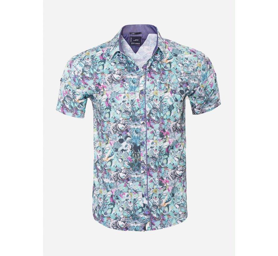 Overhemd Korte Mouw 14Y6484 Yellow