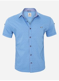 Arya Boy Overhemd Korte Mouw  15Y7861 Blue