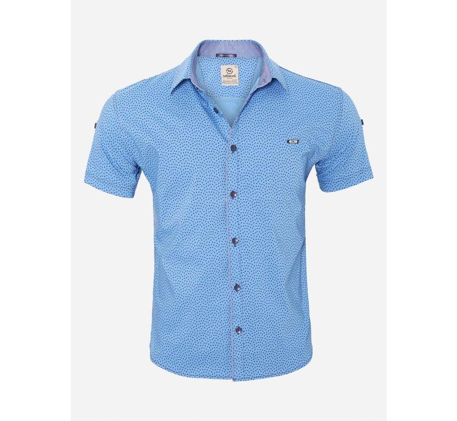 Overhemd Korte Mouw  15Y7861 Blue