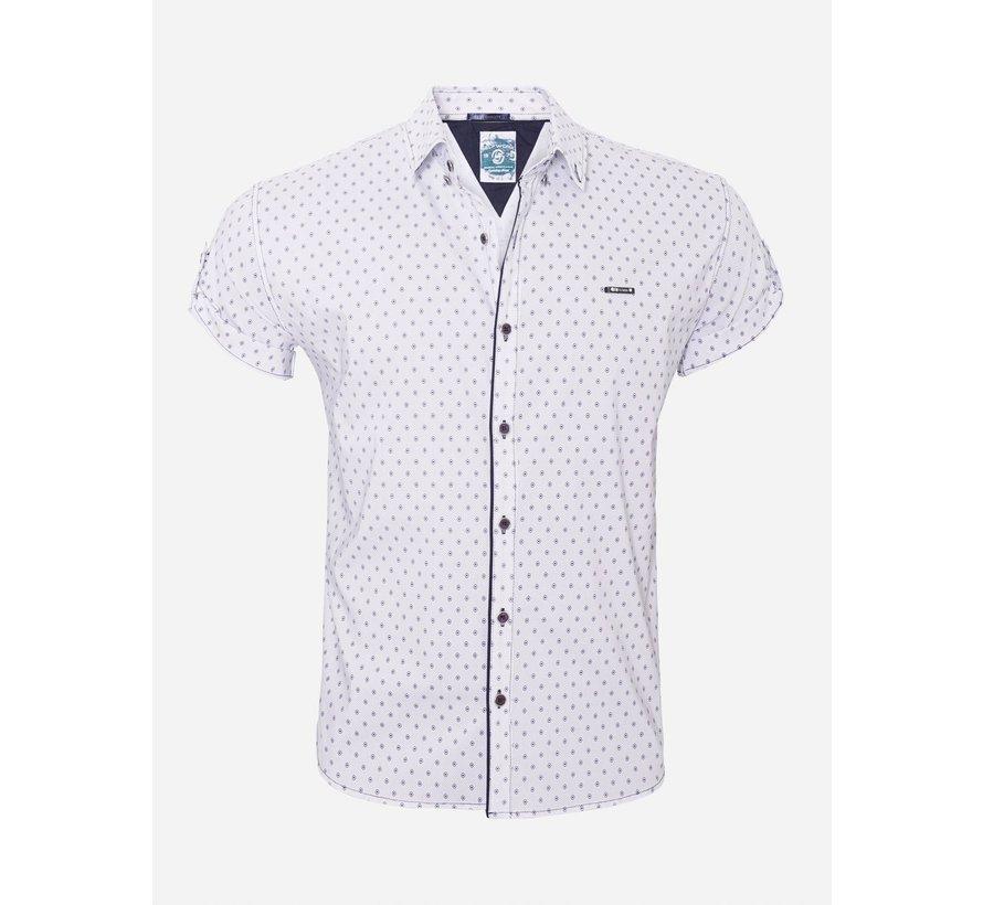 Overhemd Korte Mouw 16Y3901 Bat White