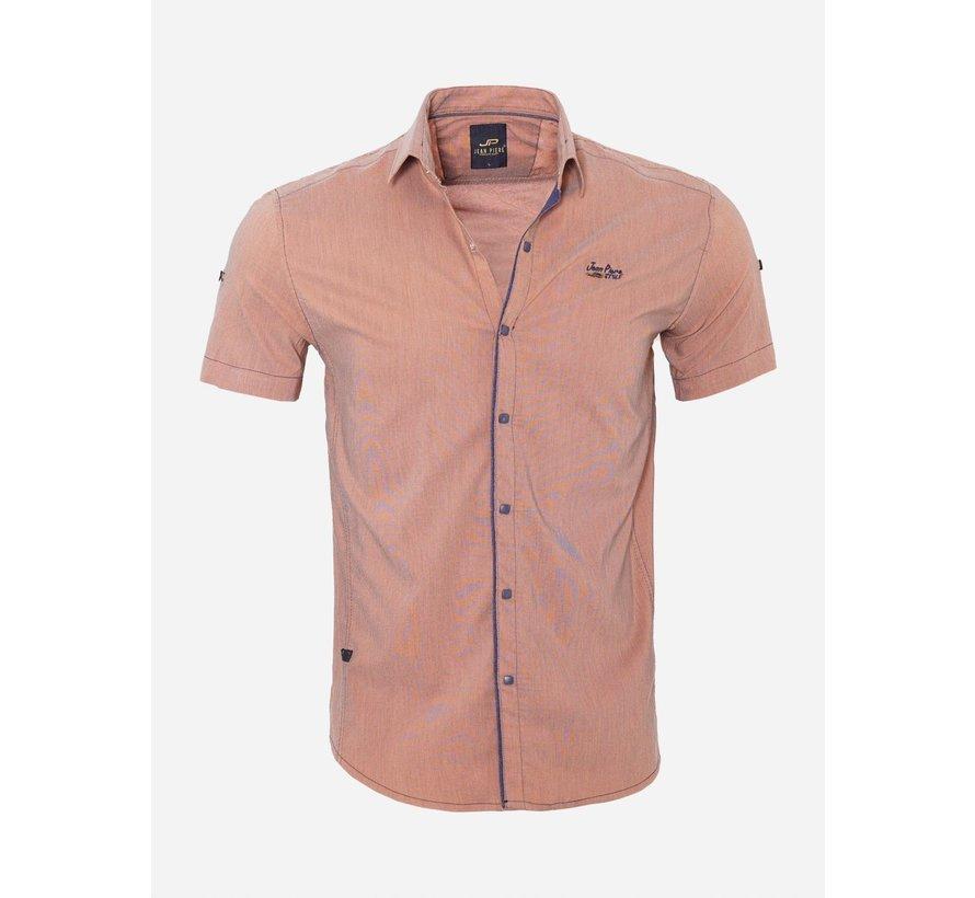 Overhemd Korte Mouw 17Y1433 Orange