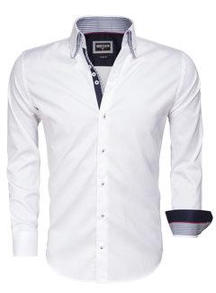 Wam Denim Overhemd Lange Mouw 75480 White
