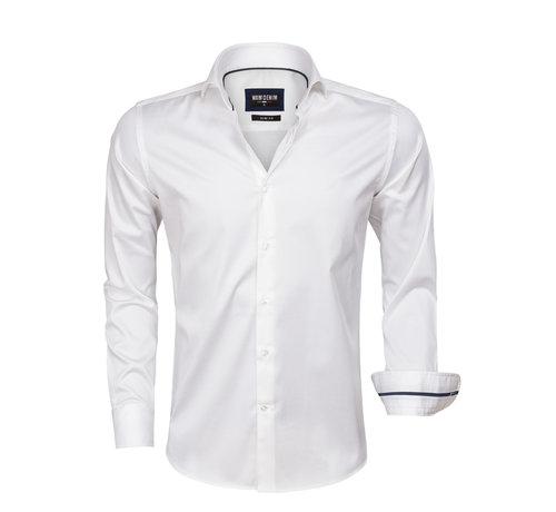 Wam Denim Overhemd Lange Mouw White 75478