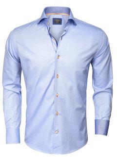 Wam Denim Overhemd Lange Mouw  75284 Blue
