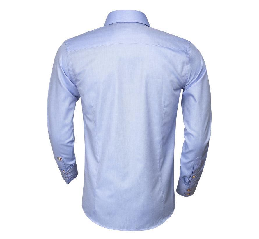 Overhemd Lange Mouw  75284 Blue